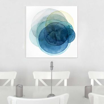 Product picture Print on Glass - Big Bang - Blue - Glass...