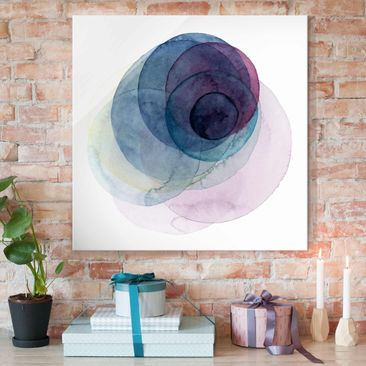 Product picture Print on Glass - Big Bang - Purple -...