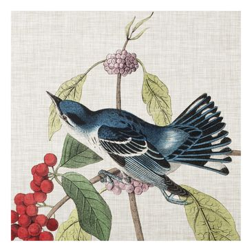 Product picture Print on Glass - Bird On Linen Pink II -...