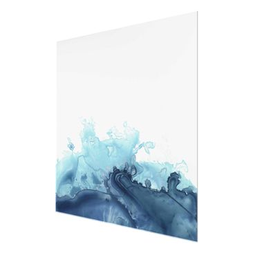 Product picture Print on Glass - Wave Watercolor Blue I...