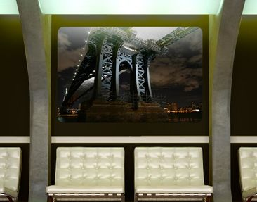 Product picture Wall Mural Manhattan Bridge At Night