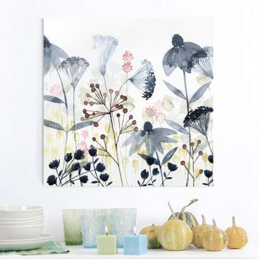 Product picture Print on Glass - Wildflower Watercolor I...
