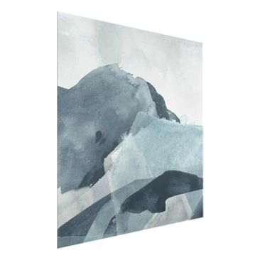 Product picture Print on Glass - Weighed In Blue II -...
