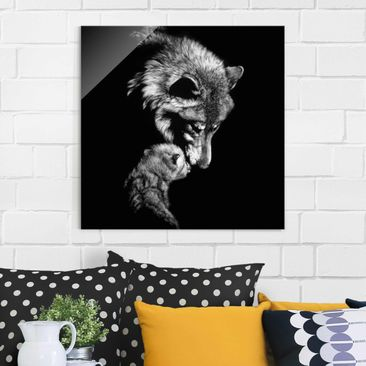 Product picture Print on Glass - Wolf In The Dark -...