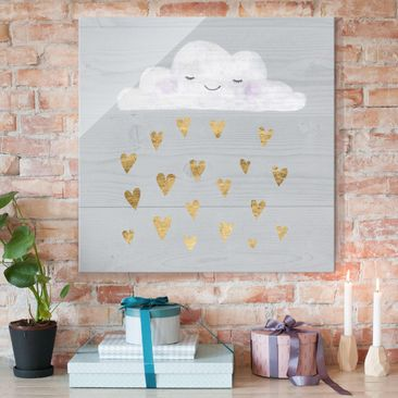 Product picture Print on Glass - Cloud With Golden...