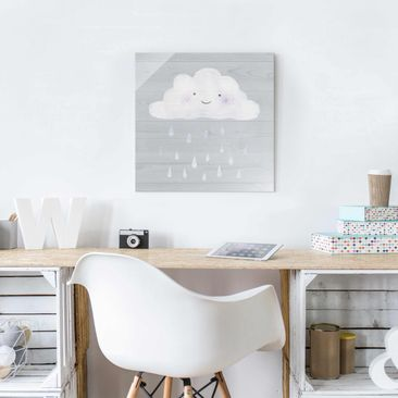 Product picture Print on Glass - Cloud With Silver...
