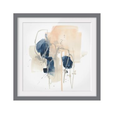 Product picture Framed print - Azurite I - Square Format...