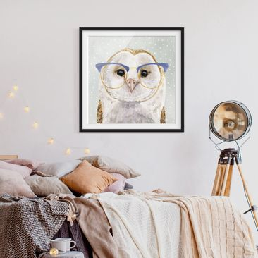 Product picture Framed print - Animals With Glasses -...