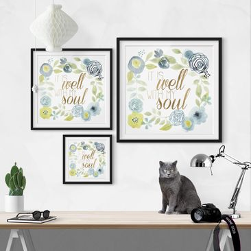 Product picture Framed print - Garland With Saying -...