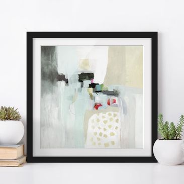 Product picture Framed print - Colorful Waterfalls I -...
