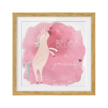 Product picture Framed print - Unicorn Troop - Believe -...