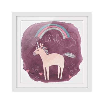 Product picture Framed print - Unicorn Troop - Love -...