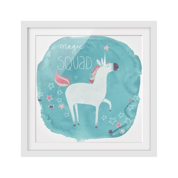 Product picture Framed print - Unicorn Troop - Magic -...