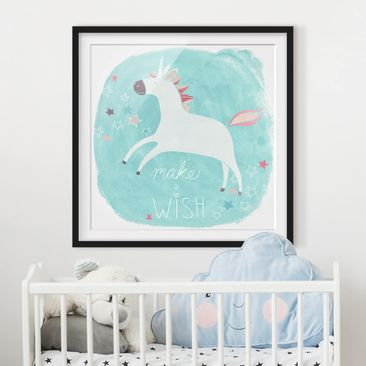 Product picture Framed print - Unicorn Troop - Wish -...
