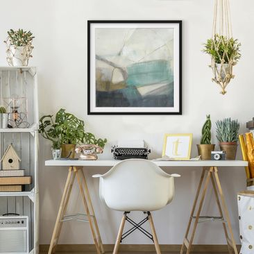 Product picture Framed print - Fangs With Turquoise I -...