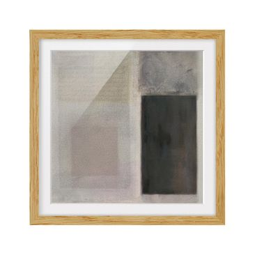 Product picture Framed print - Muted Shades I - Square...