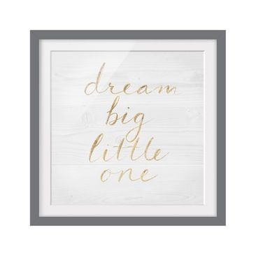 Product picture Framed print - Wooden Wall White - Dream...