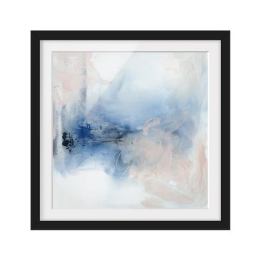 Product picture Framed print - Indigo & Rouge I - Square...