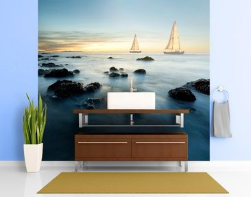 Produktfoto Photo Wall Mural Sailors At The Ocean