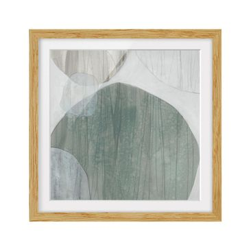 Product picture Framed print - Jade I - Square Format...