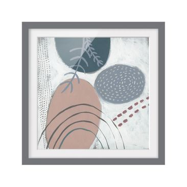 Product picture Framed print - Carnival Of Forms In Teal...