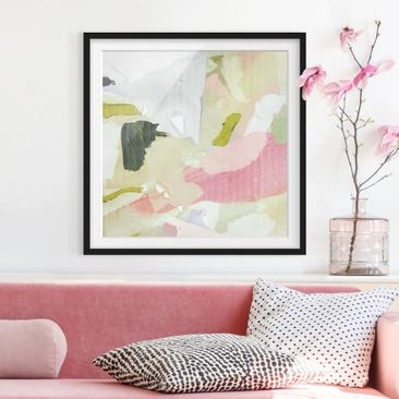 Product picture Framed print - Chime In Rosé I - Square...