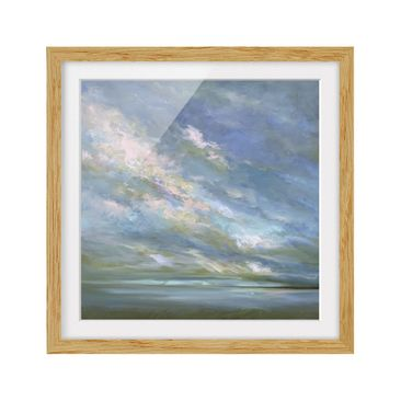 Product picture Framed print - Coast Sky - Square Format...