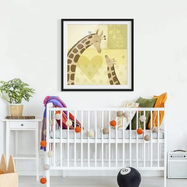 Product picture Framed print - Mum And I - Giraffes -...