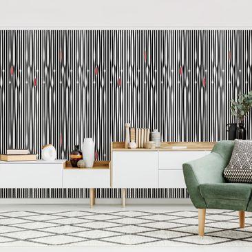 Produktfoto Tapete selbstklebend - Ethno Nadelstreif - Fototapete Querformat