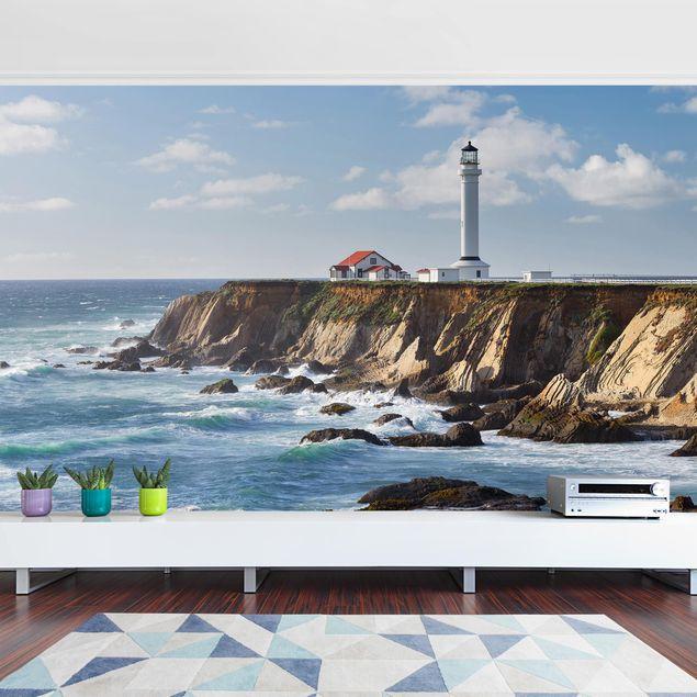 Produktfoto Tapete selbstklebend - Point Arena Lighthouse Kalifornien - Fototapete Querformat