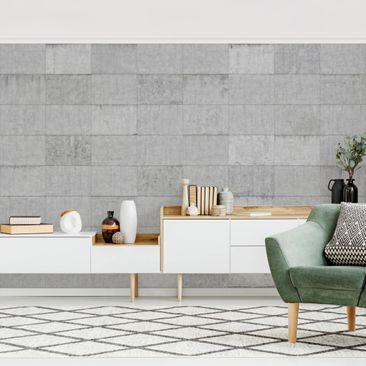 Immagine del prodotto Carta da parati adesiva effetto cemento - Piastrella Calcestruzzo Aspetto Grigio