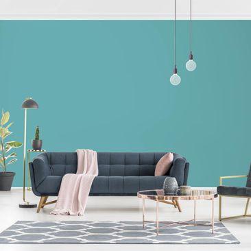 Produktfoto Tapete selbstklebend - Colour Türkis - Fototapete Querformat