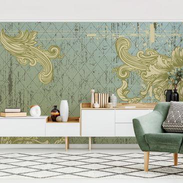 Produktfoto Tapete selbstklebend - Floraler Barock - Fototapete Querformat
