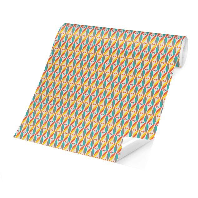 Produktfoto Tapete selbstklebend - Retro DNA Ornament - Fototapete Querformat