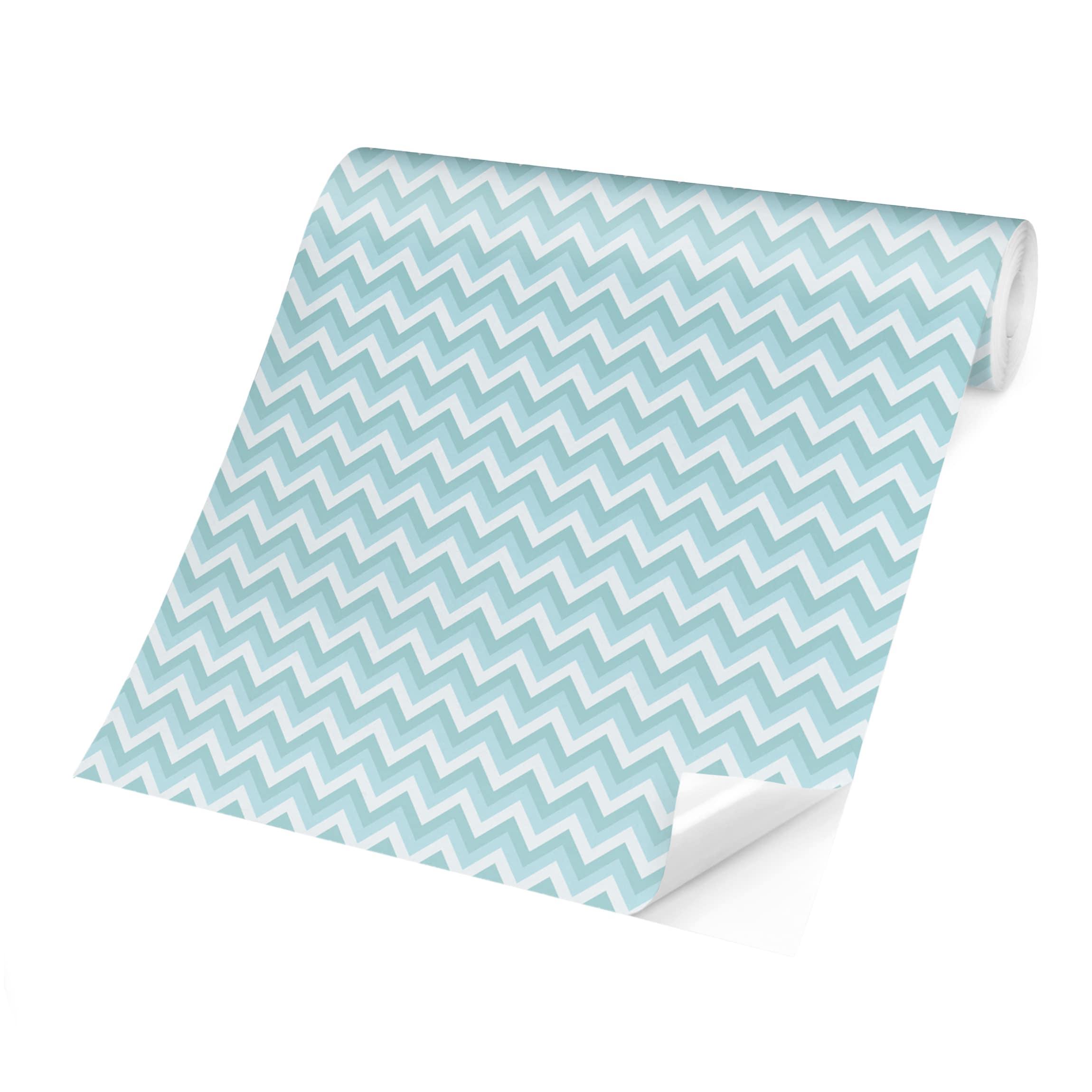 Tapete Blau Muster : tapete selbstklebend no yk39 zickzack muster blau ~ Watch28wear.com Haus und Dekorationen