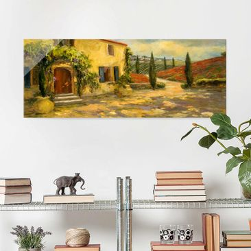 Product picture Print on Glass - Italian Countryside -...