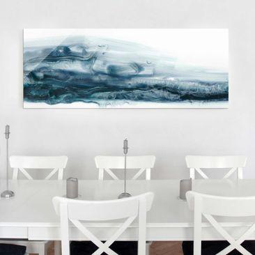 Produktfoto Glasbild - Meeresströmung II - Panorama
