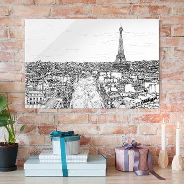 Produktfoto Glasbild - Stadtstudie - Paris - Querformat 2:3