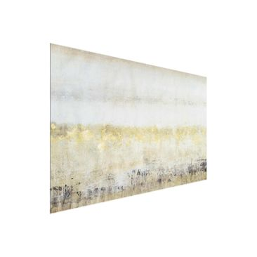 Product picture Print on Glass - Golden Color Fields I -...