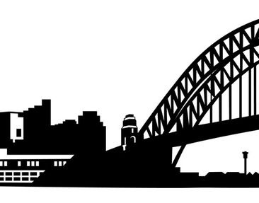Product picture Wall Decal no.FB49 Sydney Skyline