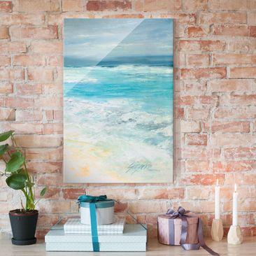 Produktfoto Glasbild - Sturm auf dem Meer II - Hochformat 3:2