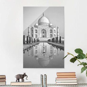 Produktfoto Glasbild - Taj Mahal mit Garten - Hochformat 3:2