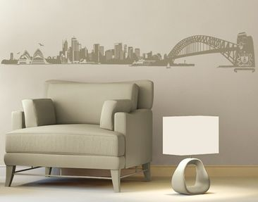 Produktfoto Wall Decal no.FB50 Sydney Skyline XXL