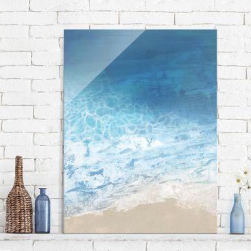 Produktfoto Glasbild - Ebbe und Flut in Farbe I - Hochformat 4:3