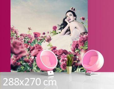 Product picture Photo Wall Mural Woman On Field With...