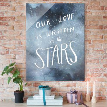 Immagine del prodotto Quadro in vetro - Amore Celeste - Stella - Verticale 4:3