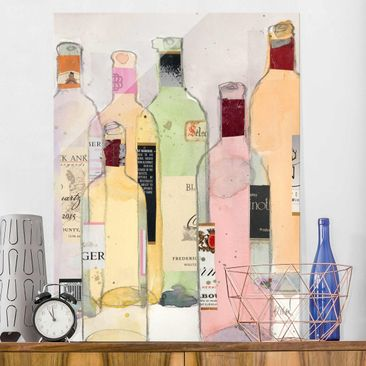 Produktfoto Print on Glass - Wine Bottles In...