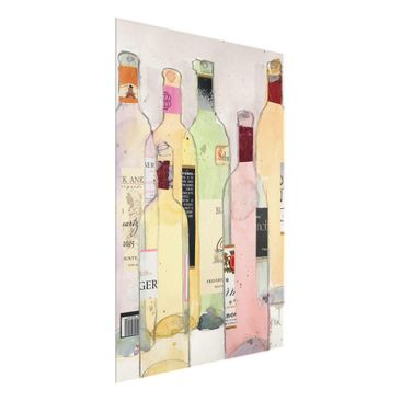Product picture Print on Glass - Wine Bottles In...
