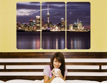 Produktfoto Wall Mural Auckland At Night Triptych I