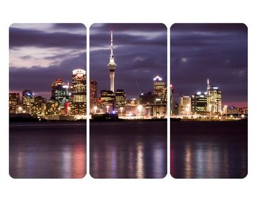 Product picture Wall Mural Auckland At Night Triptych I